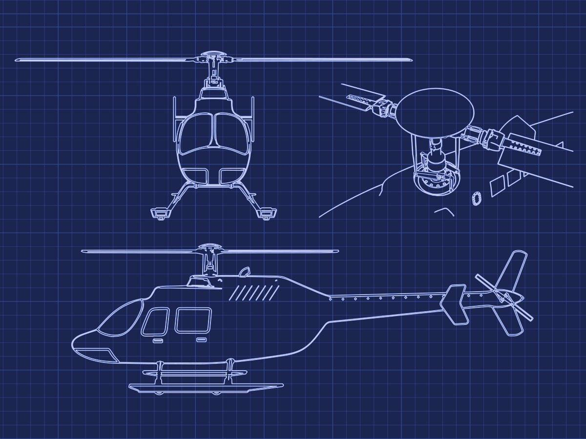 Blueprint Helicopter