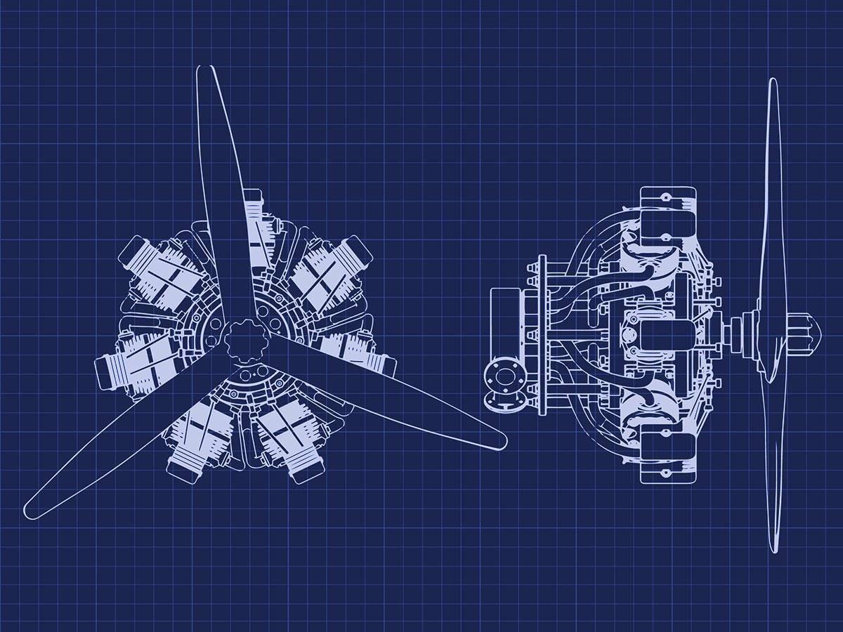 Blueprint Radial Engine